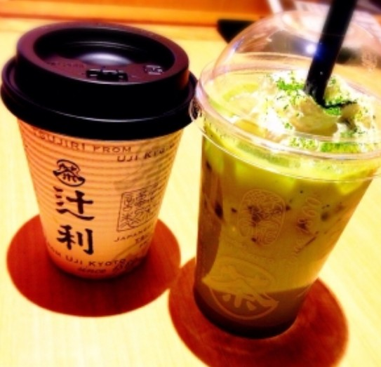 清水寺 祇園辻利 「抹茶オレ」「ほうじ茶オレ」