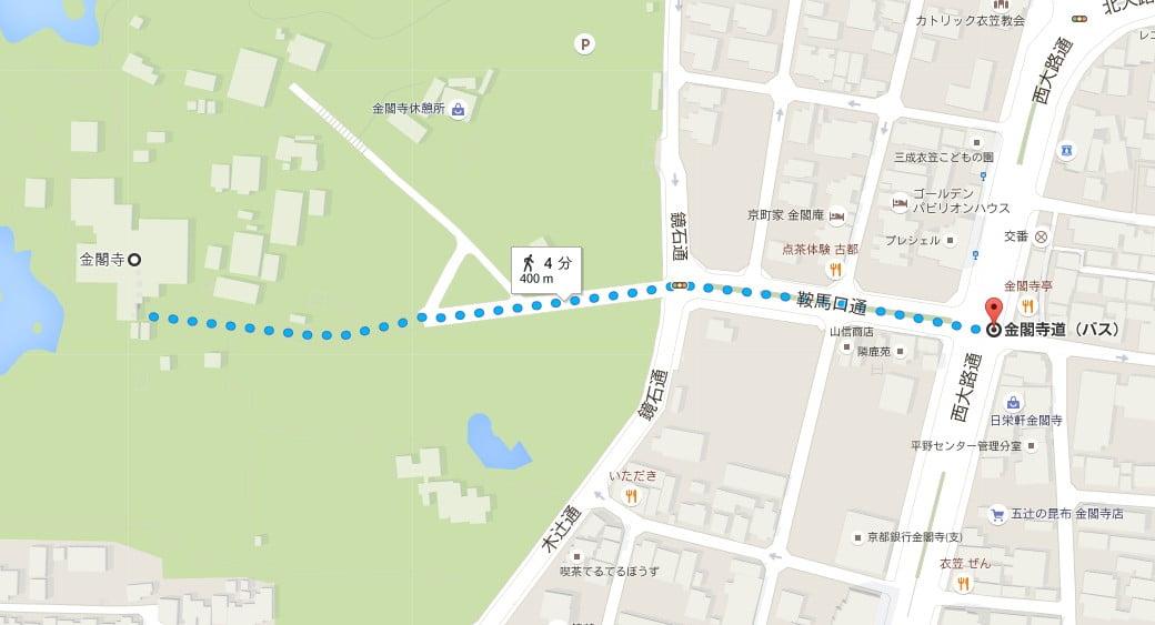 銀閣寺から金閣寺へのアクセス・行き方