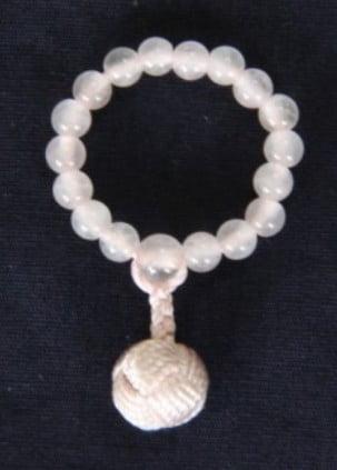 指数珠(ローズクォーツ)(ゆびじゅず)