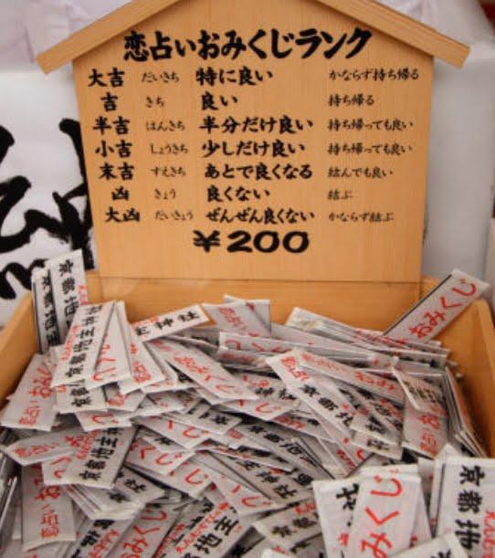 京都・地主神社・おみくじ確率・割合・当たる